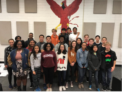 The BHS Cardinal Band sets a record for the number of students named to the All-District Honor Band.