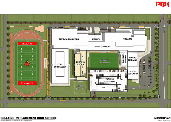 The first phase of construction has begun at Bellaire High School.