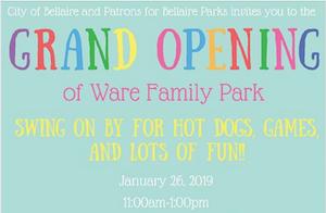Ware Family Park Celebration