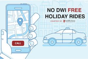 No DWI Free Holiday Rides – St. Patty's Day 2019