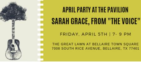 Party at the Pavilion: Sarah Grace