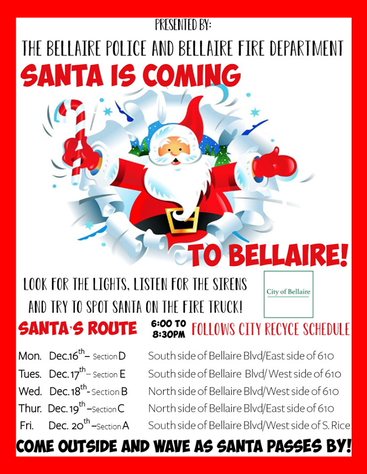 Santa visits Bellaire