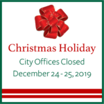 Bellaire city offices and facilities will be closed December 24 and 25.
