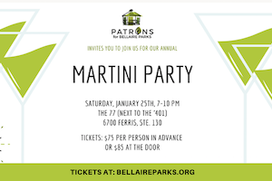 Patrons for Bellaire Parks Martini Party