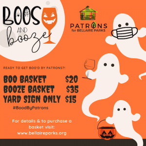 """You're invited to """"Boos & Booze"""",  a virtual Halloween visit."""