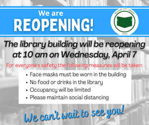 Bellaire City Library will reopen for limited in-person services April 7.