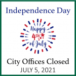 Bellaire City Offices closed and no solid waste services July 5.