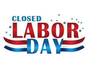 City offices will be closed for Labor Day.