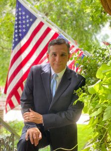 Javier Vega announces his candidacy for Bellaire City Council.