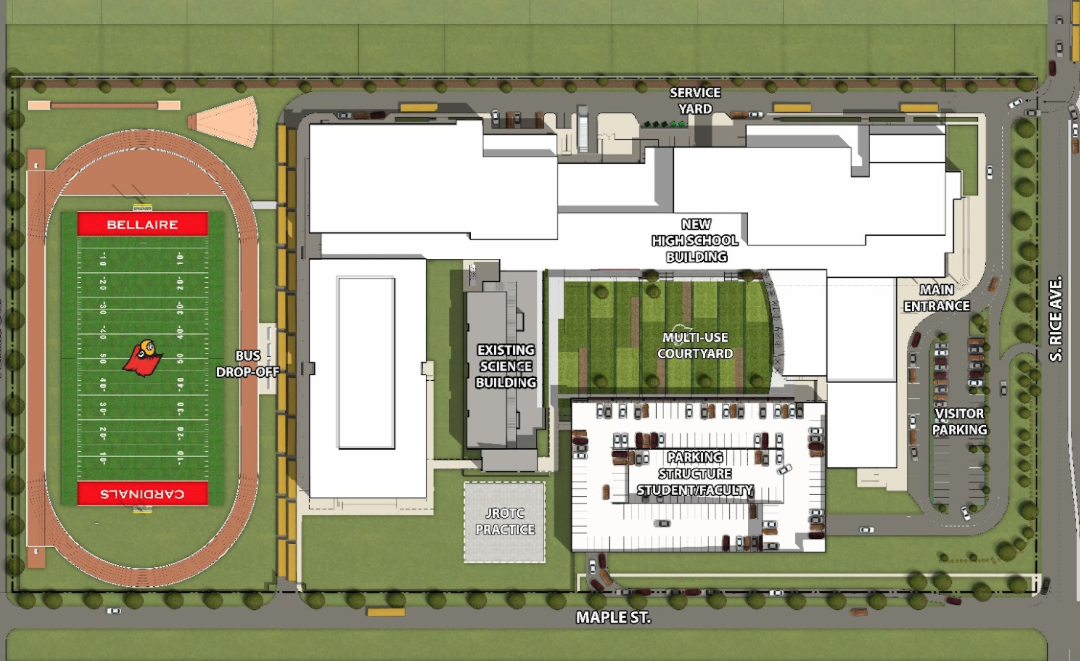 The HISD Bond Office shares plans for the new Bellaire High School.