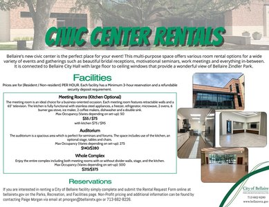 civic center rental